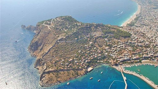 Aerial View of Alanya Castle