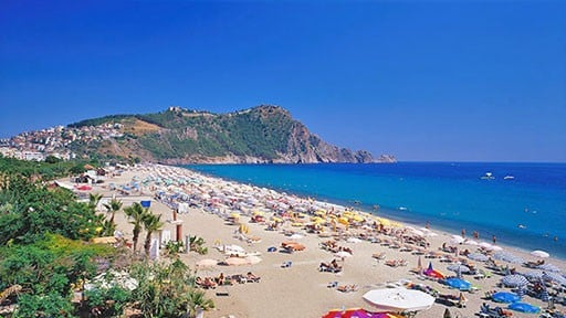 Cleopatra Beach and the Castle in Alanya