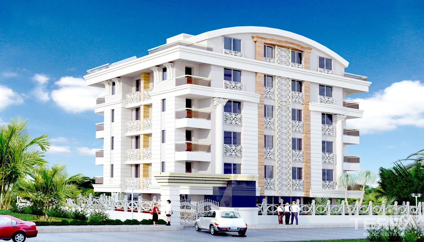 Uniquely-designed Konyaaltı Apartments for Sale 2.5 Km from the Beach