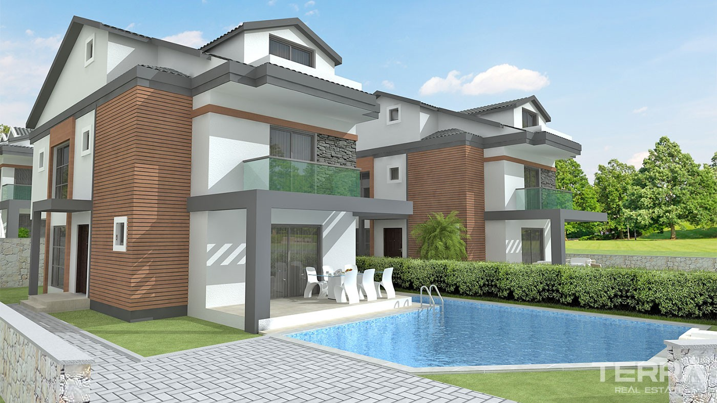 Modern Detached Villas for Sale in Fethiye Hisarönü with Private Pool
