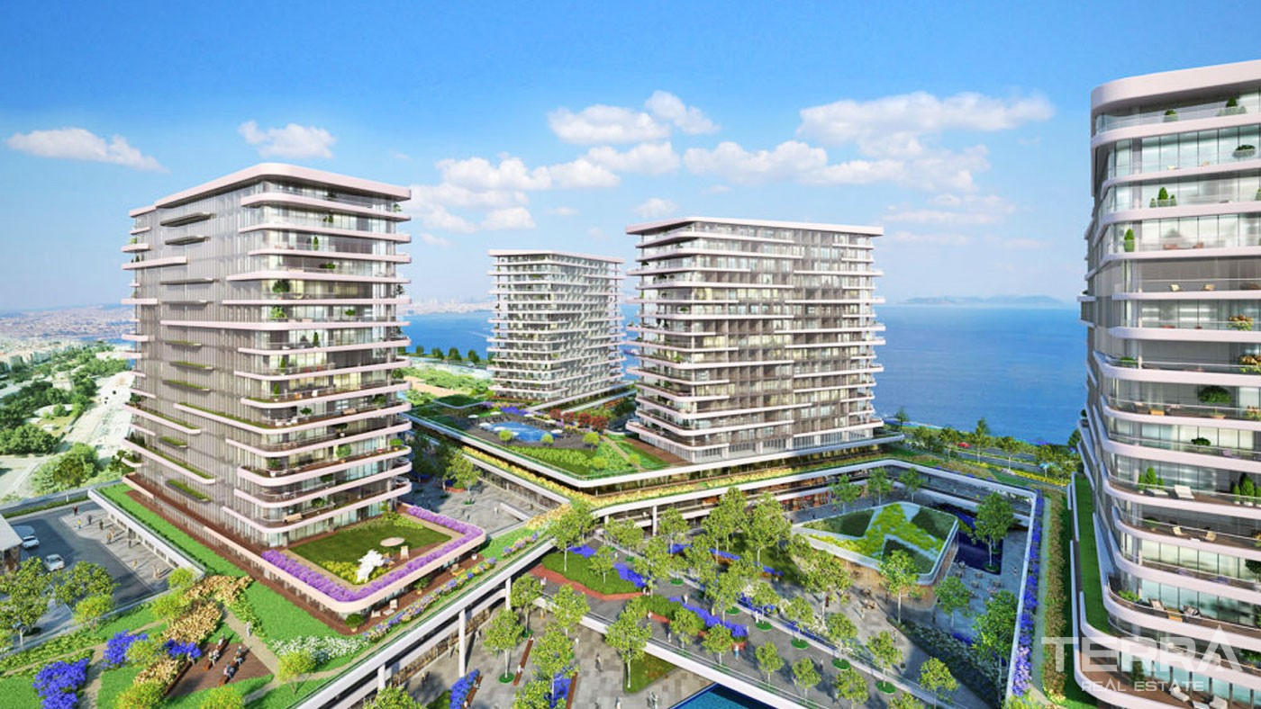Seafront Apartments with Rich Facilities in Istanbul Zeytinburnu