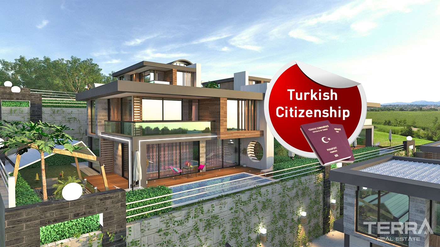 Luxury Detached Houses in Alanya Kargıcak With Private Pool