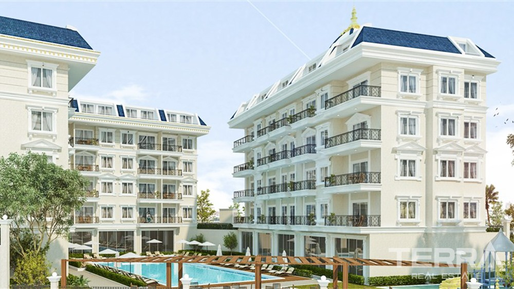 Affordable Apartments in The Complex With Rich Facilities in Alanya