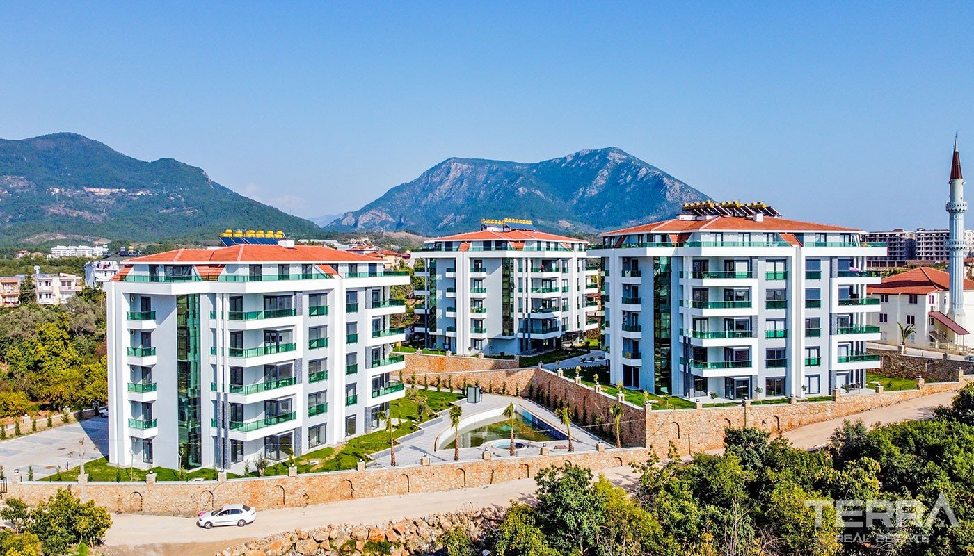 Spacious Family Apartments in Quiet Surroundings of Alanya Oba