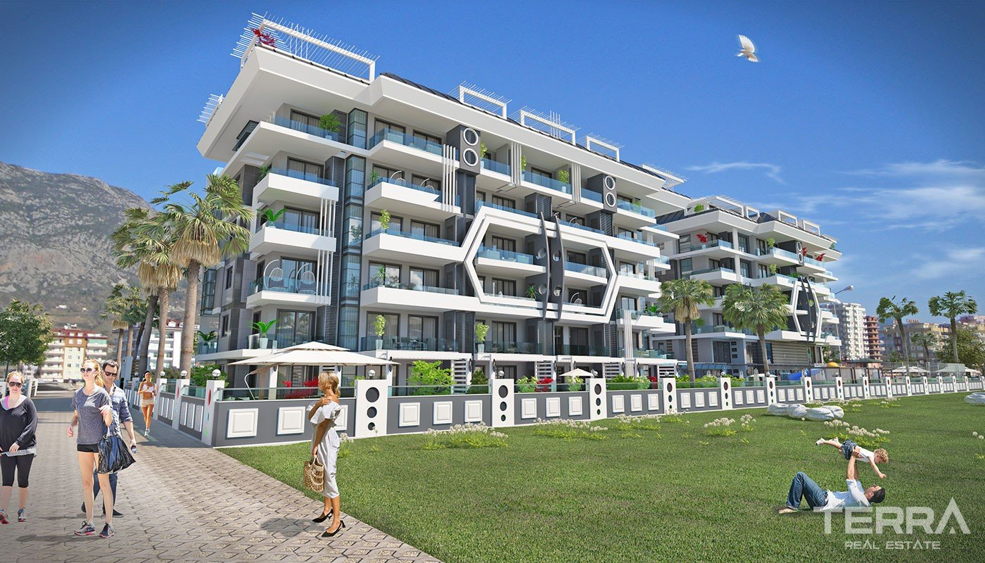 New Apartments Only 200 m to the Sea in Kargıcak Alanya