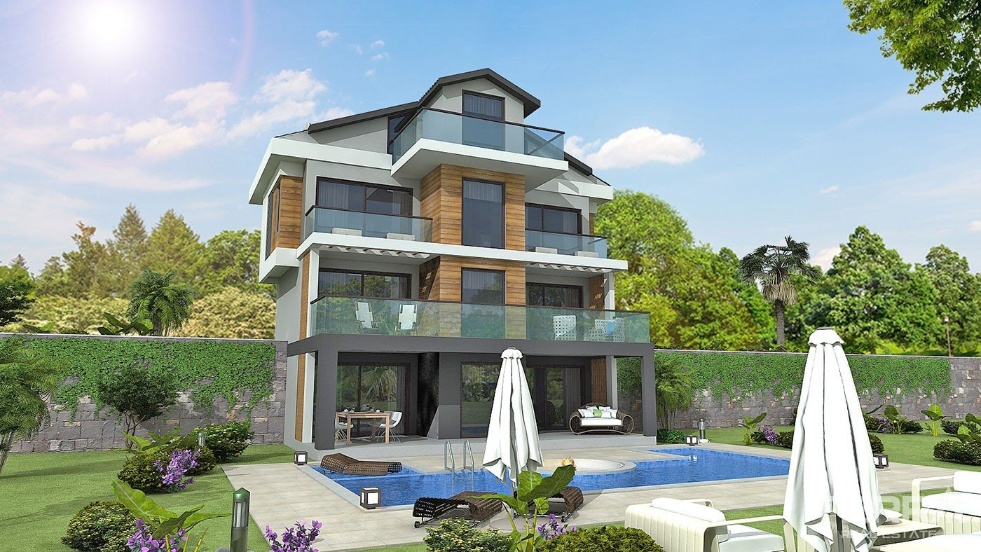 Luxury Detached Villas With Large Pool for Sale in Fethiye Göcek