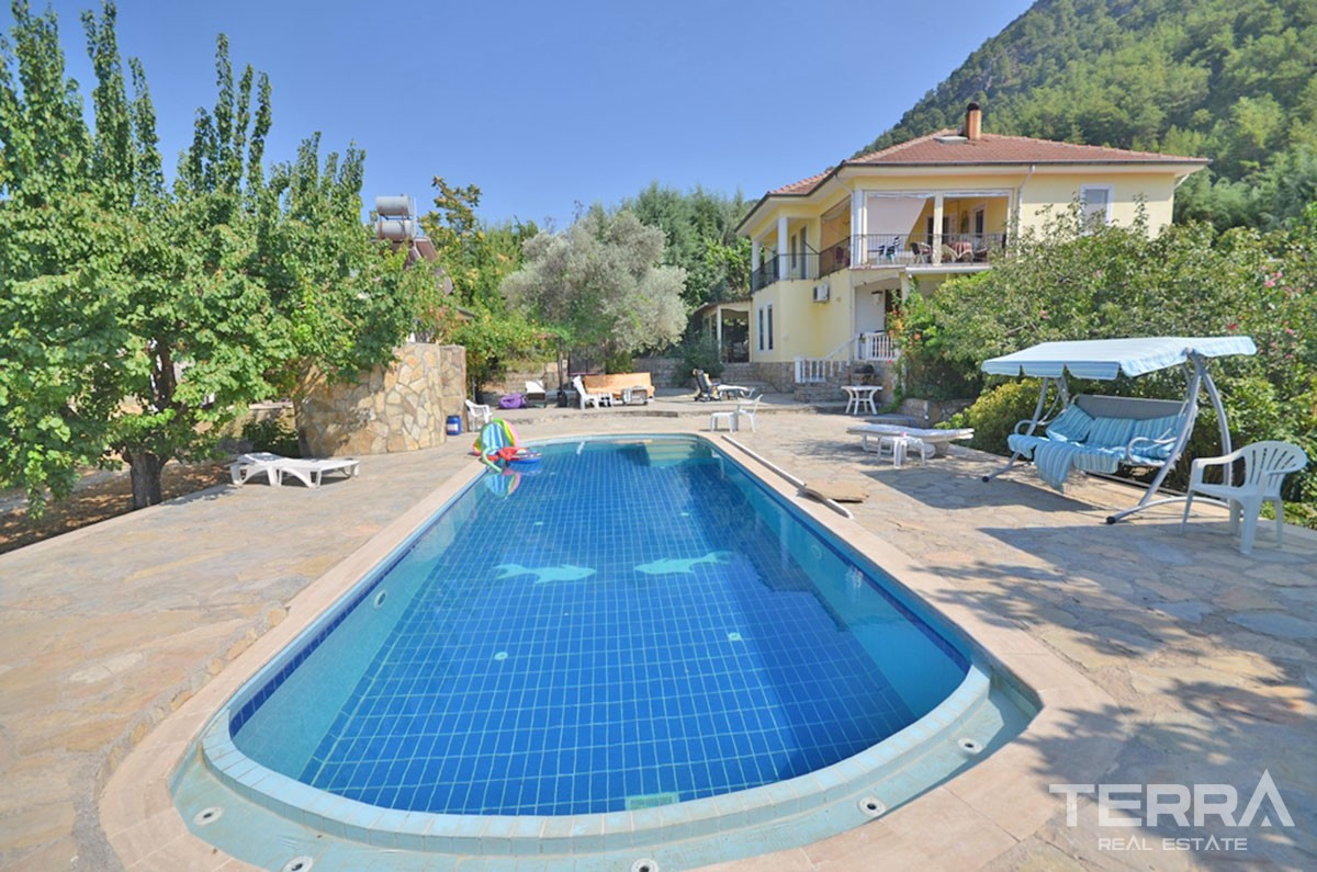 Large Detached Villa with Well Sized Garden to Buy in Fethiye Üzümlü
