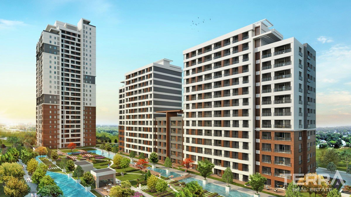 Key-Ready Apartments to Buy in a Luxurious Başakşehir Istanbul Complex