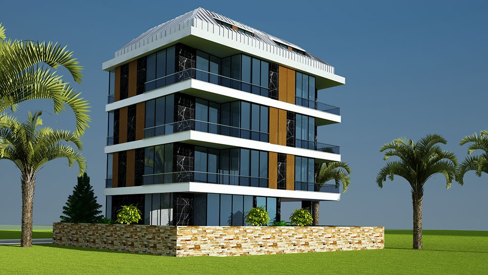 Luxury apartments near the Cleopatra Beach in Alanya
