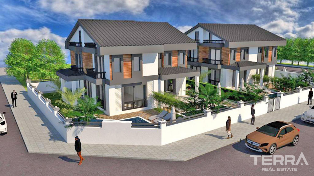 Semi-Detached Villas to Buy in Fethiye Only 700m from the Çalış Beach