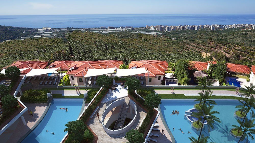 Unique apartments at an exceptional location in Alanya