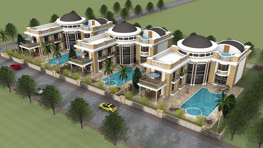 Luxury villas with private swimming pools for sale in Belek