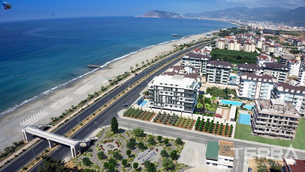 Apartments with great seaview for sale in Kestel, Alanya