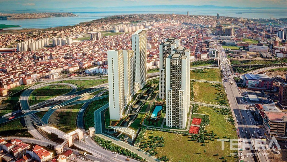 Apartments for sale with sea & lake view in Esenyurt