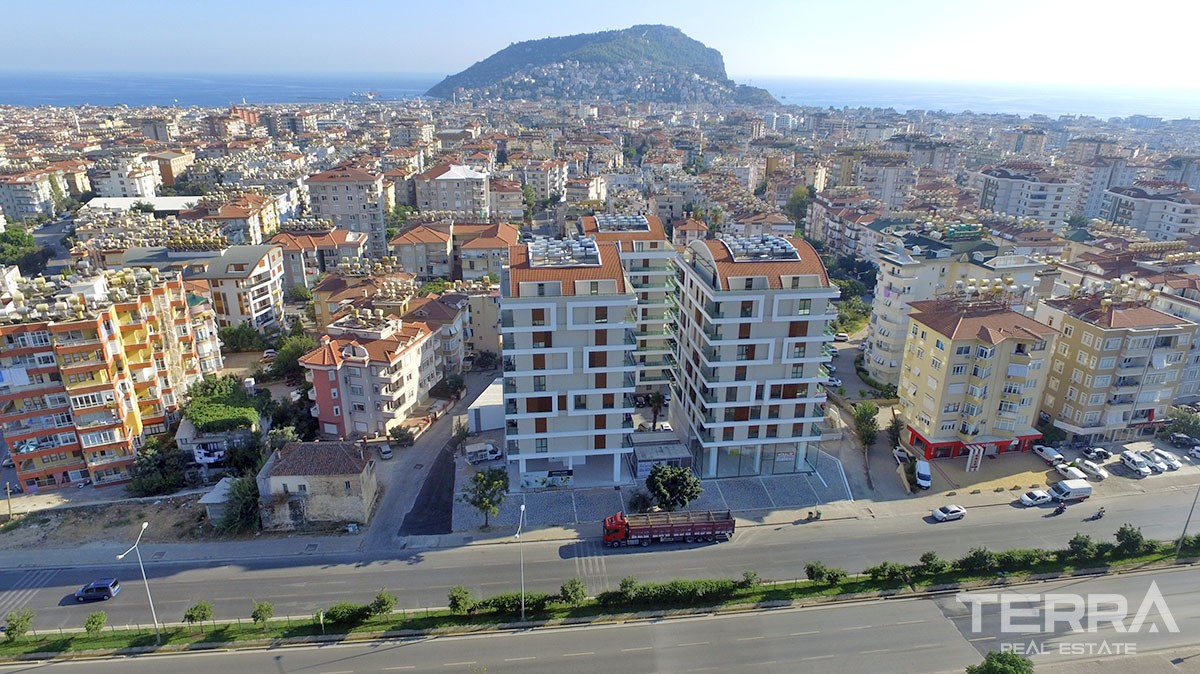 Luxury apartments with 4 bedrooms in Alanya City Centre