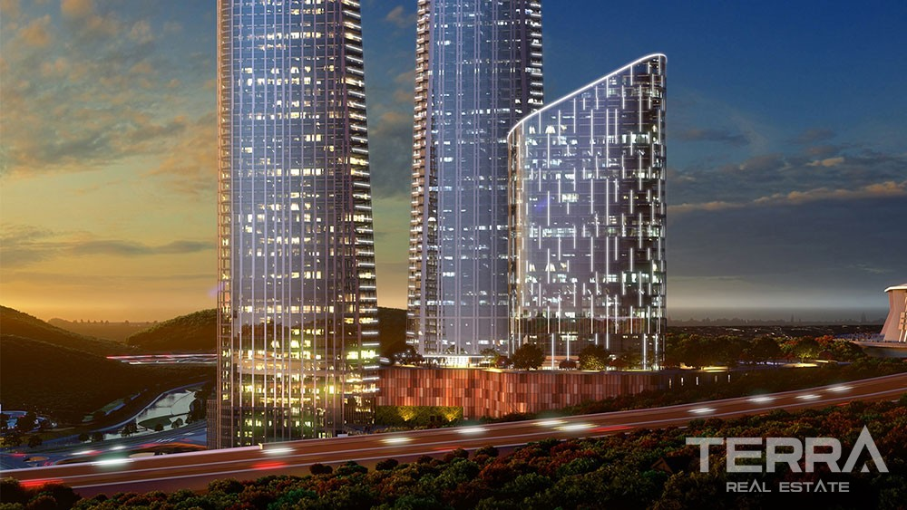 Luxury apartments for sale with hotel concept in Sisli, Istanbul