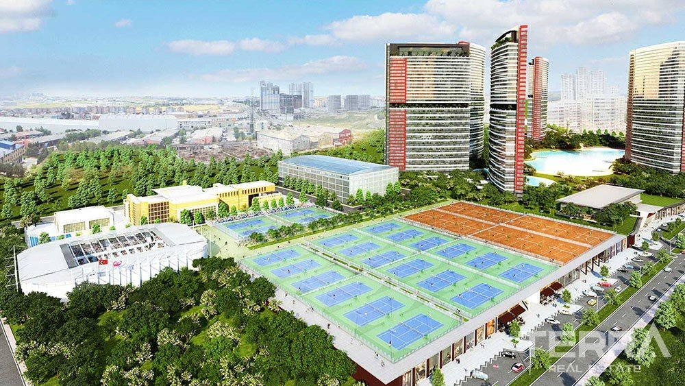 Luxury apartments with great sports complex in Istanbul
