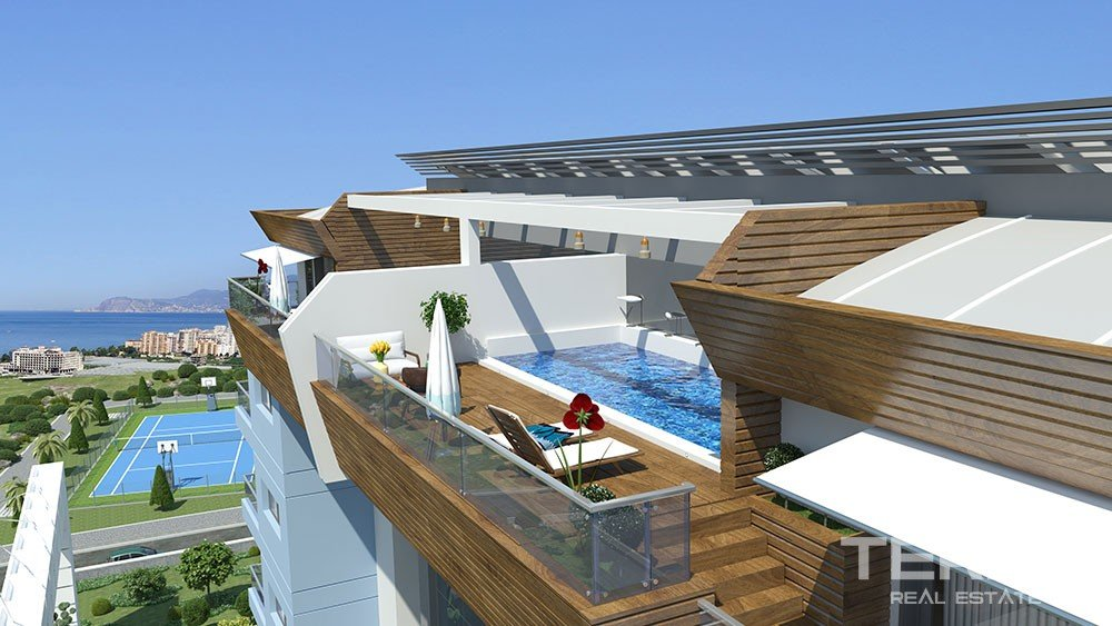 Exclusive apartments with sea view in Alanya, Kargicak