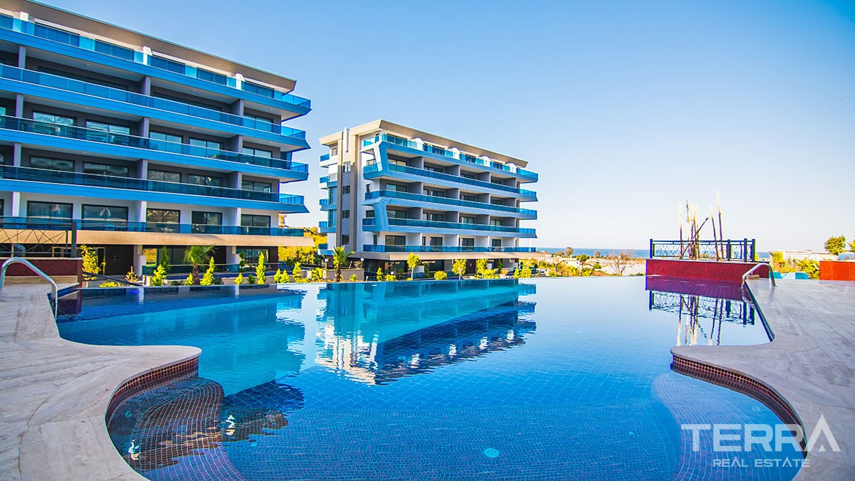 Exclusive apartments with sea view in Alanya Kargıcak