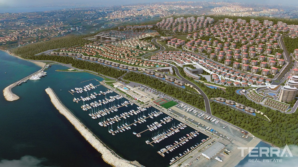Apartments for sale in Istanbul with private marina