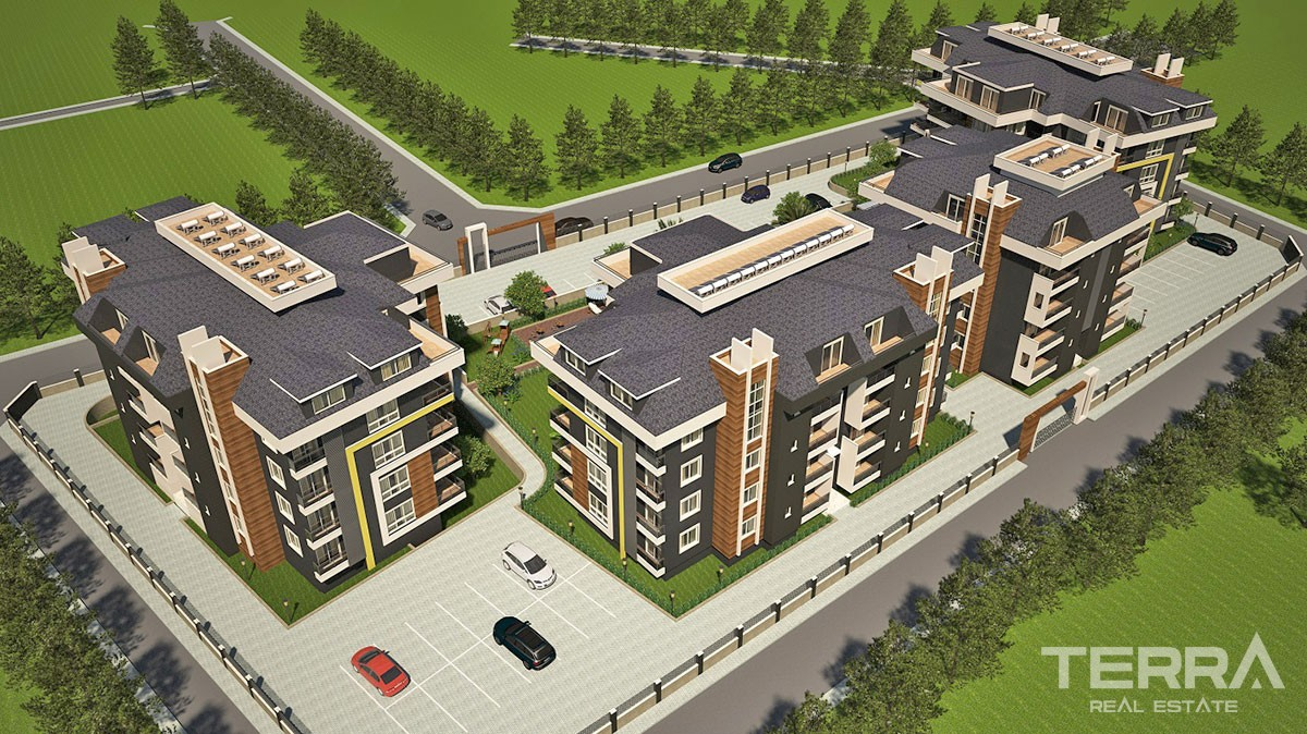 Haseki Oba apartments for sale with unique designed in Alanya
