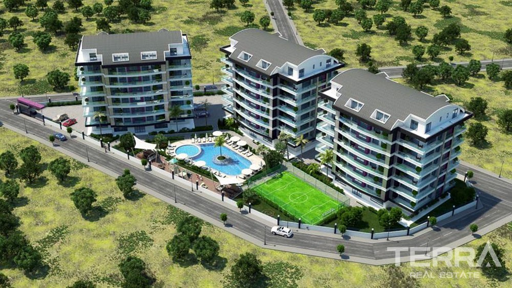 Spacious luxury apartments for sale in Alanya, Oba