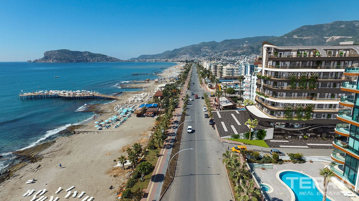 Exclusive sea front apartments for sale in Alanya
