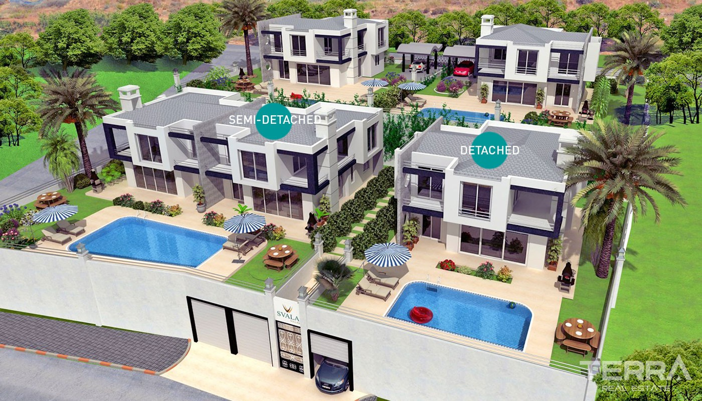 Luxury villas for sale with endless sea view in Alanya, Kargıcak
