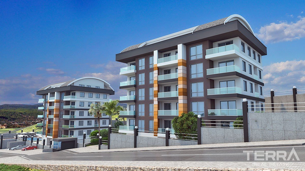 Spacious 3 and 4 bedroom apartments for sale in Alanya, Cikcilli