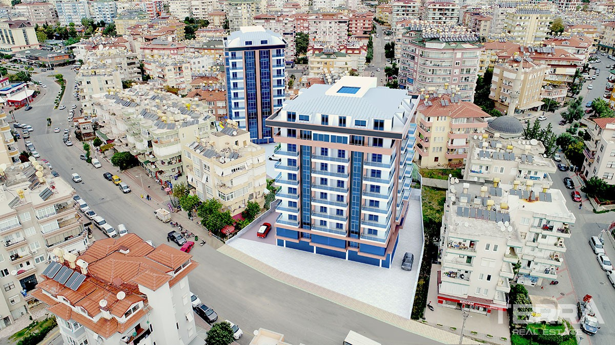 Vizyon Park Apartments in Alanya City Center in a Central Location