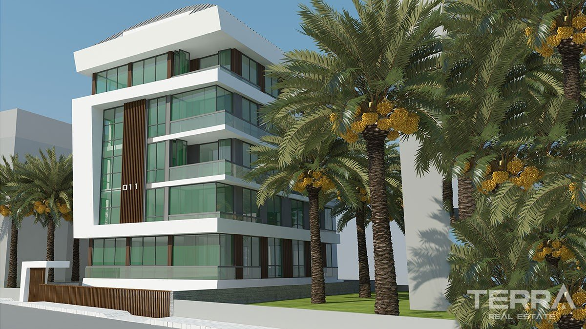 Brand new apartments for sale in Cleopatra region Alanya