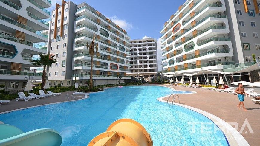 Furnished 2 bedroom apartment for sale Avsallar Alanya at Emerald Park