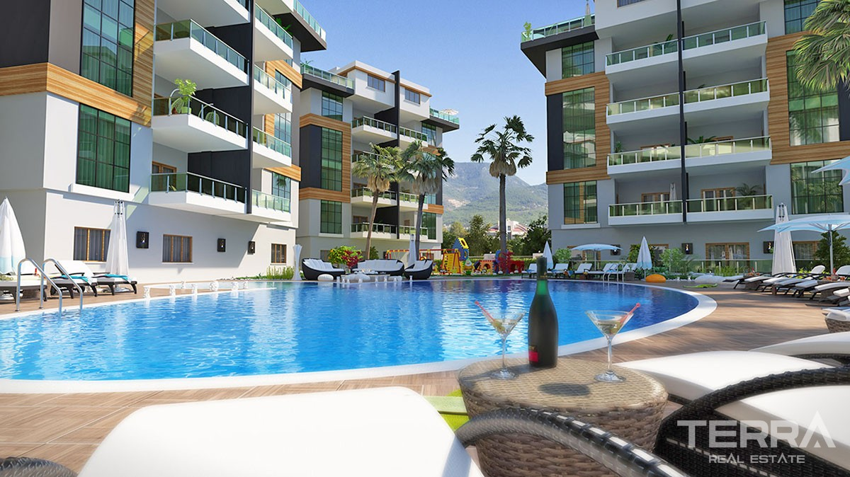 Spacious Apartments for sale with Separate Kitchen in Alanya Oba