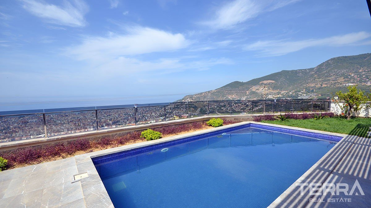 Exclusive houses for sale in Alanya Bektaş with amazing sea view