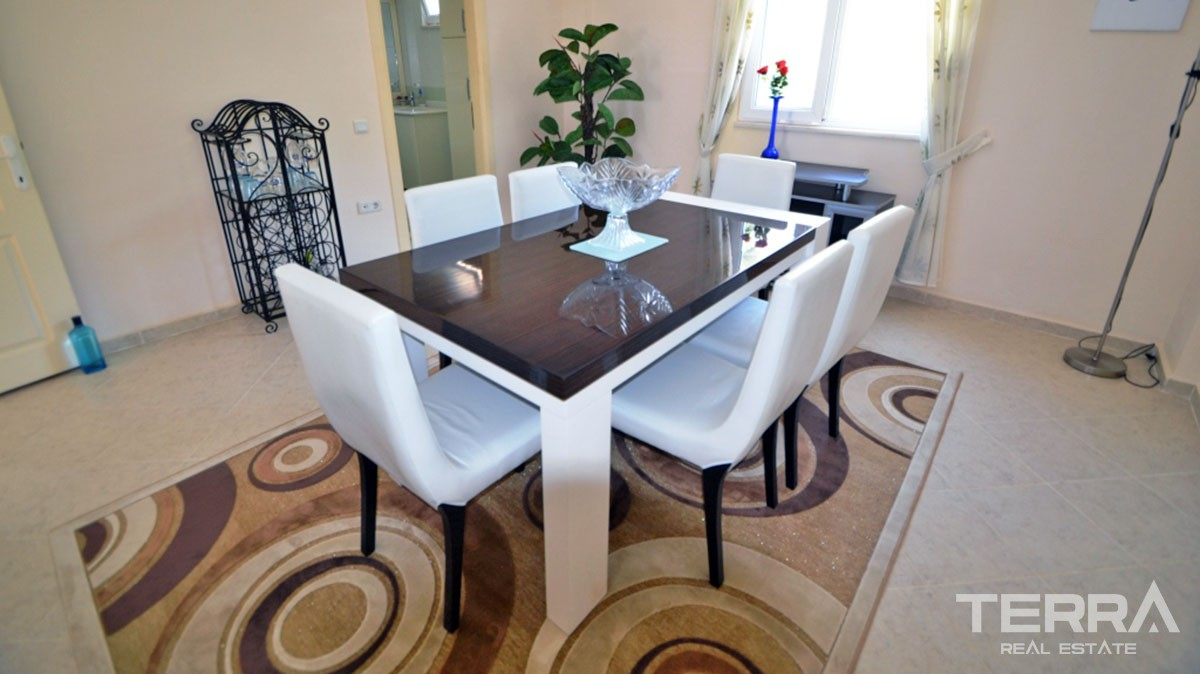 Fully furnished villa for sale in Alanya Kargıcak with great sea view