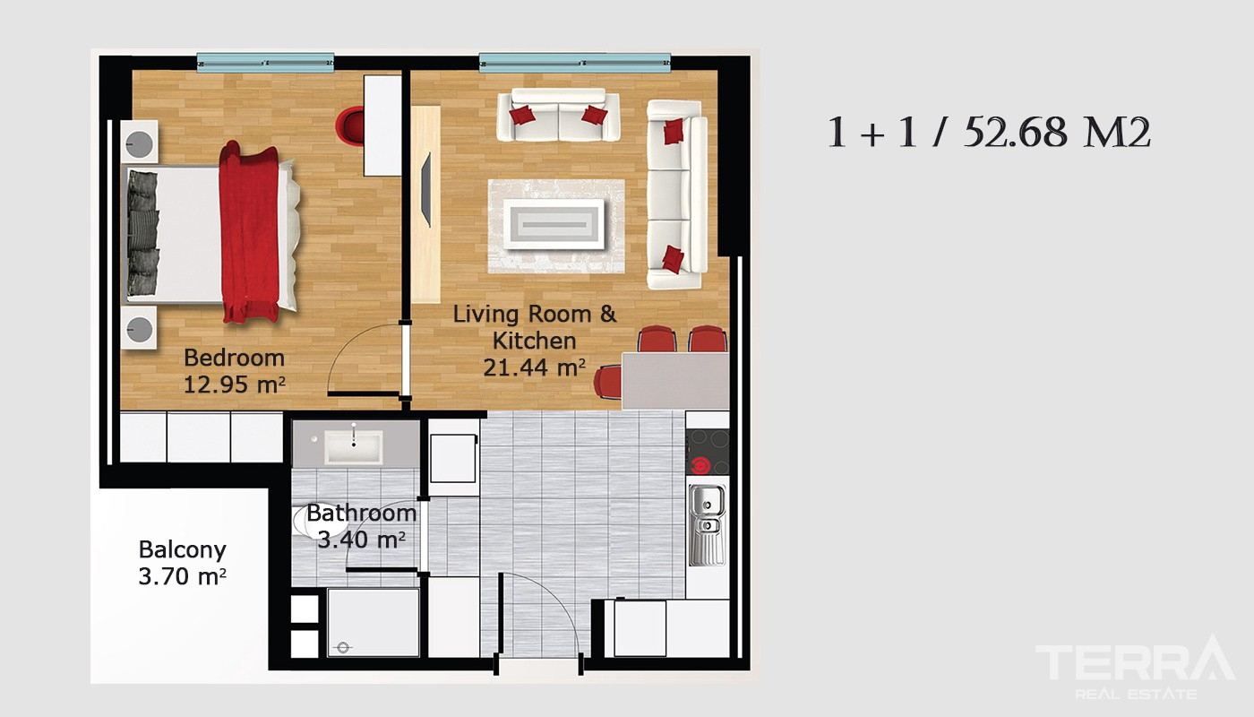 Boutique concept apartments for sale in Istanbul
