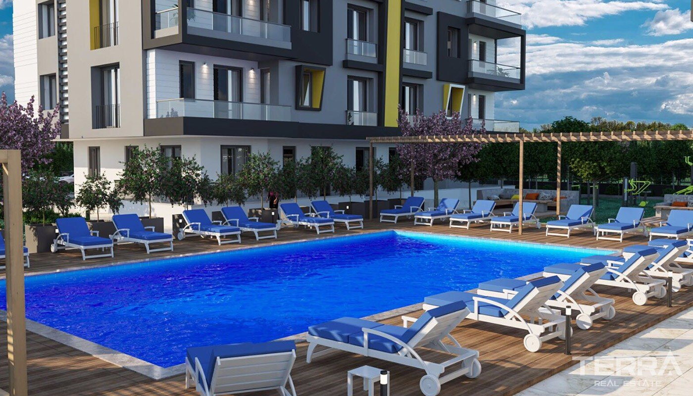 Newly Built Antalya Apartments Close to All Amenities