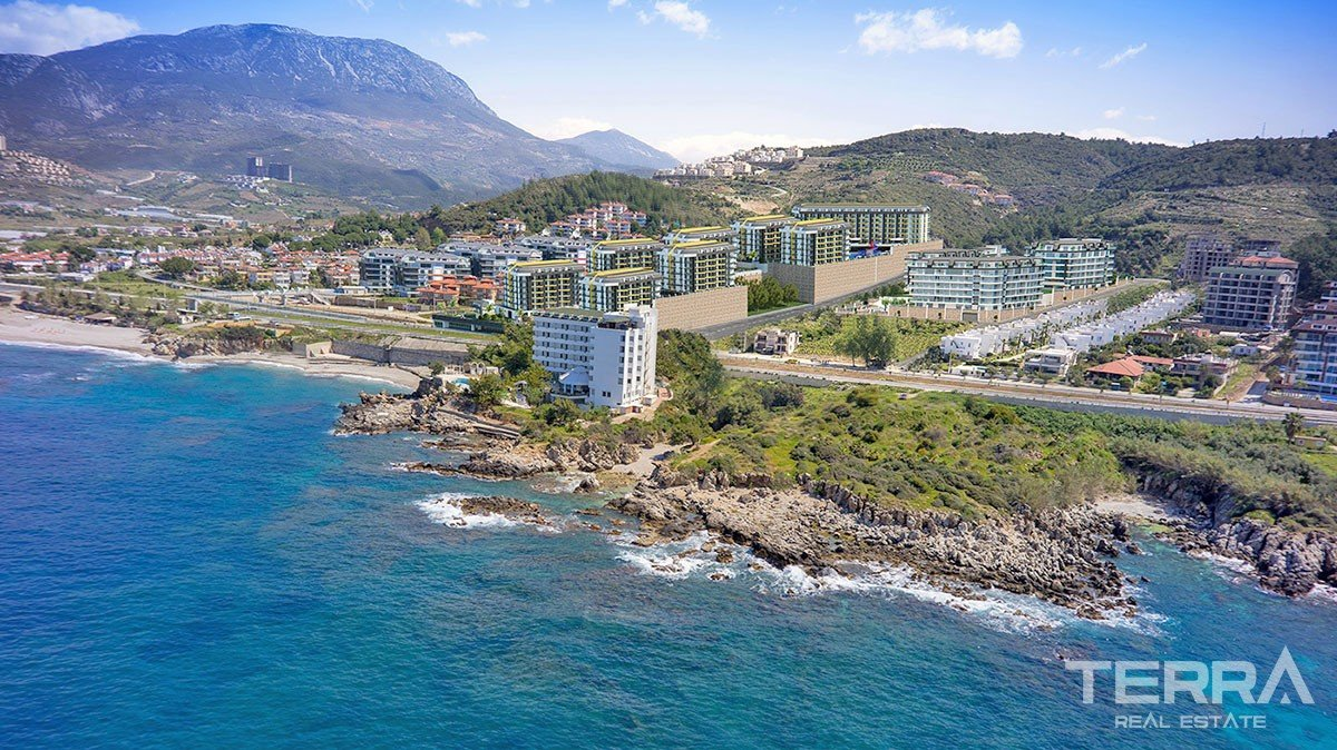 Luxury Sea-front Apartments for Sale in Alanya Kargıcak