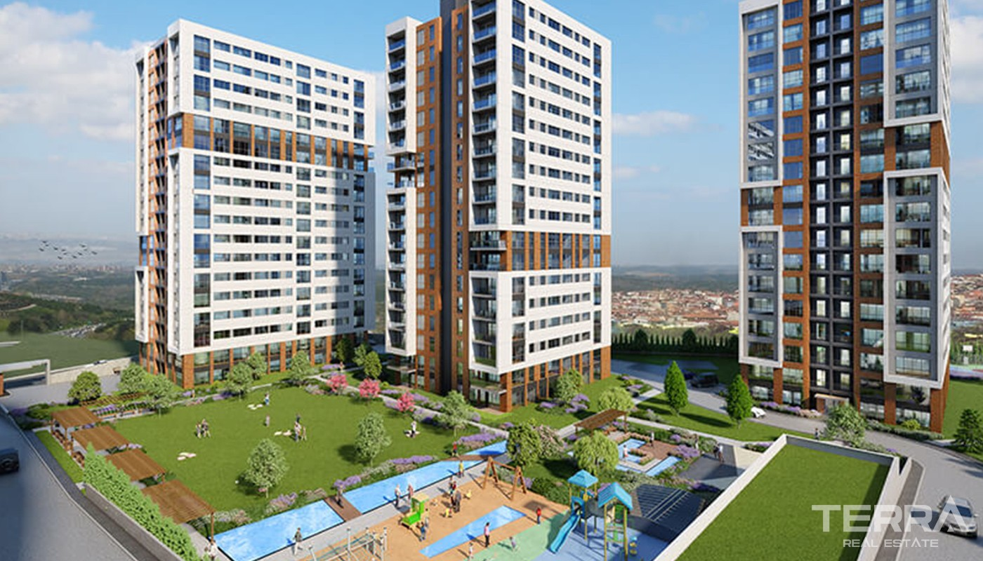 State Guaranteed Luxury Apartments on TEM Highway in Istanbul