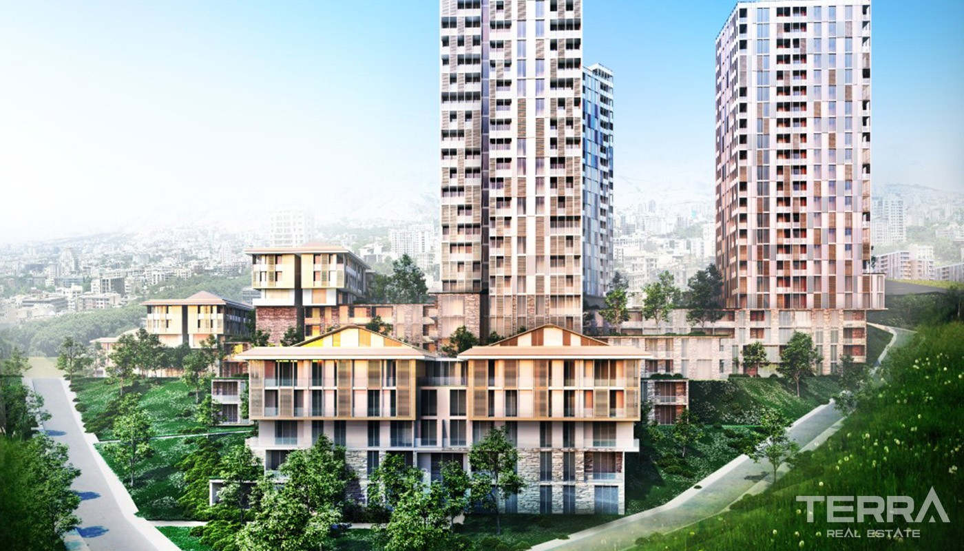 Stylish Apartments in Wonderful Green Scenery in Istanbul Başakşehir