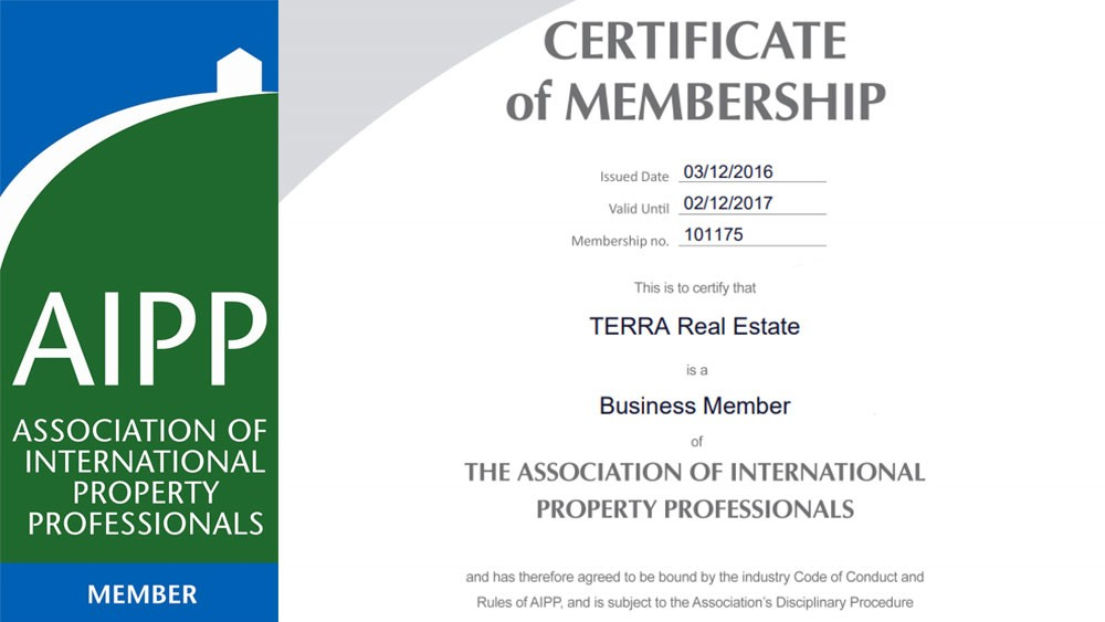 TERRA Real Estate is a member of AIPP